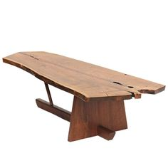 - Walnut Low Table by George Nakashima explore items from global dealers at Live Edge Furniture, Wood Furniture, Modern Furniture, Furniture Design, Furniture Stores, Furniture Buyers, Furniture Outlet, Vintage Furniture, George Nakashima