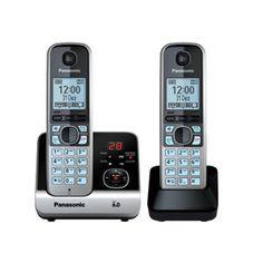 Telefone sem Fio Panasonic DECT 6.0, Viva Voz, Black Piano e Prata - KXTG6722 PAKXTG6722LBB