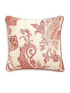 Etro Guenon Velvet Paisley Accent Pillow