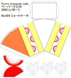 printable cake slice template origami cake slice instructions