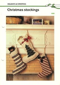 3 Crochet Christmas Stocking Patterns
