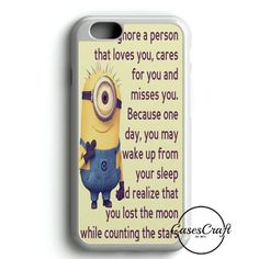 Minions Despicable Me 2 Movie iPhone 8 Plus Case Despicable Me Halloween, Minions Despicable Me, 2 Movie, Care About You, That's Love, Miss You, Plastic Case, Wake Up, Iphone 6