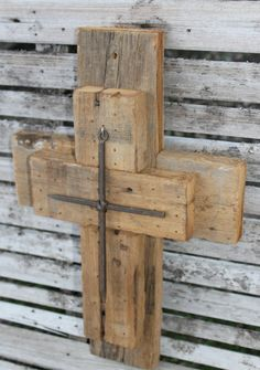 rustic crosses CYPRESS wooden cross unique by LARusticWoodworks Wooden Crosses, Wall Crosses, Woodworking Enthusiasts, Rustic Cross, Barn Wood, Basin, Rustic Decor, Repurposed, Layout