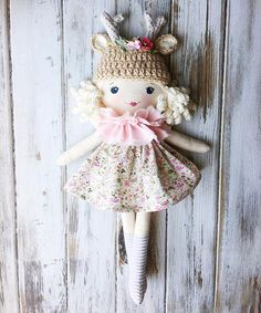 :: Crafty :: Cloth Doll :: 2 :: Spuncandy Handmade Dolls #summerintheforestcollection #fawndoll
