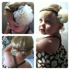 The Penny Parlor - DIY headband instructions - uses knee highs and tulle! So cute!