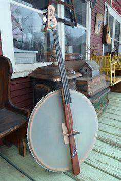 Antebellum Instruments: c.2012 Upright Banjo Bass (modifications)