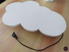 como fazer luminária de nuvem
