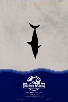 Jurassic World (2015) ~ Minimal Movie Poster by Yuhab Ismail #amusementphile