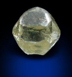 Mineral Specimens: Diamond (1.61 carat cuttable yellow-gray cubo-octahedral crystal) from Jwaneng Mine, Naledi River Valley, Botswana