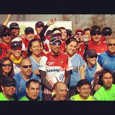 July 29th, 2012– Matias Anguita with his whole team of runners and supporters. Without them it'd have been difficult to reach the finish line (40 times!!).   [www.reforestpatagonia.com]