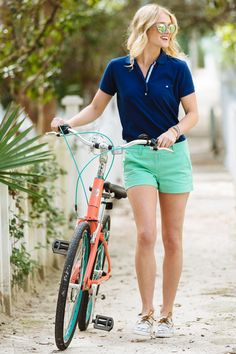 "Southern Tide gets high marks for bright colors and a great fit with the Leah short (offered in 3"" and 5"" inseam). New to the shorts offering - printed bottoms! Now doesn't that say ""resort chic?!"" #SouthernTide #CCPrep #Spring"