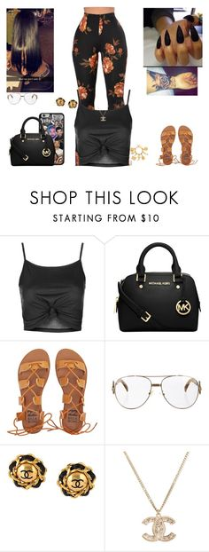 """""""Chanel-Frank Ocean🤕"""" by kira101-101 ❤ liked on Polyvore featuring Topshop, Samsung, Michael Kors, Billabong, Fendi and Chanel"""