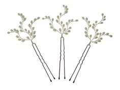 Image of Handmade Pearl Vine Vintage Wedding Hair Pins - click to view