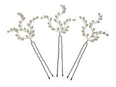 Image of Handmade Pearl Vine Vintage Wedding Hair Pins - click to view
