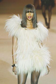 rrrusskaya:  Naomi Campbell at Yves Saint Laurent Spring - Summer 2002.