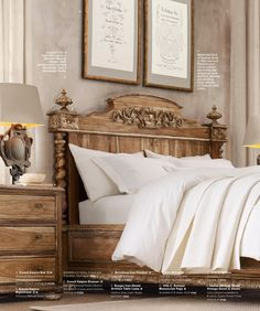 RH Source Books - French empire bed.