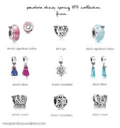 pandora disney spring 2015  2014's cartoon (I think) . A frozen snowflake, Anna's crown and Elsa's crown, for me please. Thank you very much :)