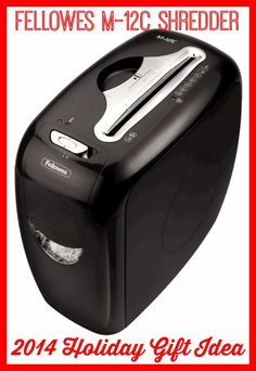 The Fellowes M-12C Shredder is a great holiday gift idea for anyone that needs to prevent identity theft. Properly dispose of your important documents so no one else can get them! #IC #GiftFellowes #MC (sponsored)