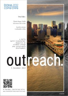 On the ninth day of COP18, OUTREACH focuses on cities, urban governance and climate change. http://issuu.com/stakeholderforum/docs/cop18day8cities