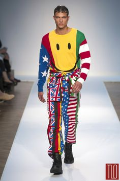 Moschino-Spring-2015-Menswear-Collection.  I mean honestly, if a guy showed up for a date wearing this....
