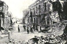 Damage to Gorlice after the battle. Fighting had already raged here for months before the offensive and both towns were shattered