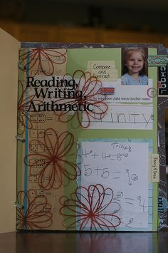 Schoolwork scrapbook: I like the idea of this but don't think I could actually do it. Crafty mamas, though, absolutely!