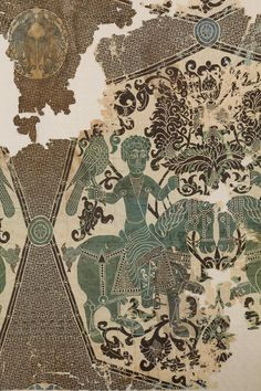 Silk with falconers, Iran, 11th century Silk (double-weave lance silk)