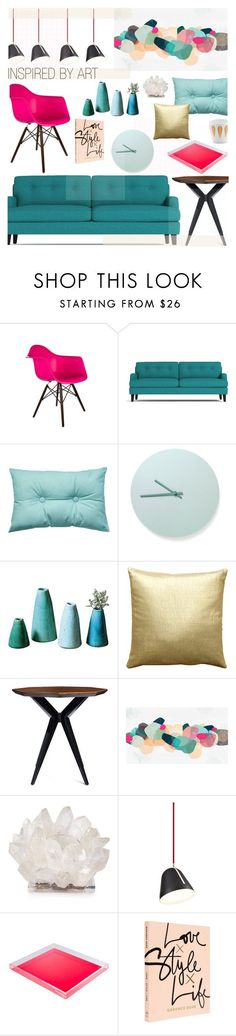 """INSPIRED BY ART"" by cutandpaste on Polyvore featuring interior, interiors, interior design, home, home decor, interior decorating, Dot & Bo, Essenza, Menu and Pillow Decor"