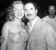 Marilyn with Groucho Marx on the set of Love Happy, 1949.