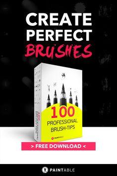 Free Brushes, Digital Painting Tutorials, New Tricks, Art Tips, Paint Brushes, Brush Set, Digital Art, Photoshop, Paintings