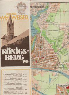 Stadtplan KÖNIGSBERG 1:15000 um 1925 Straßenbahn farbig OSTPREUSSEN