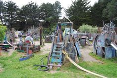Adventure Playground, Berkeley, CA Kids can build with wood, saws, hammers, and nails, for free.