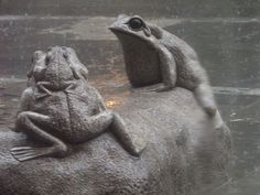 A rainy incident in Insadong, Seoul, South Korea. Street sculpture near the top end of Insadong opposite an amazing cake and coffee shop  (Photo Charles Stirton)