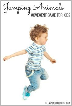 Jumping Animals Movement Game for Kids A fast-moving game that combines movement and language concepts!