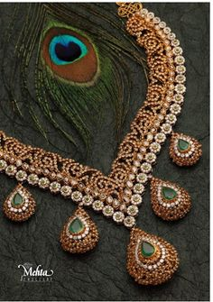 Indian Jewellery and Clothing: Uncut diamonds Necklace from Mehta jewellers..