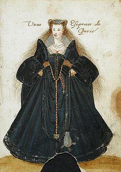 A Parisian lady; Parisian bourgeois in a cloak. Album Amicorum of a German Soldier, 1595