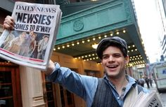 Jeremy Jordan and Newsies