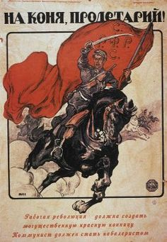 Poster is To Horse, Proletarian by Alexander Apsit in 1919