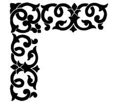 Wood Craft Patterns, Wood Burning Patterns, Printable Stencil Patterns, Molduras Vintage, Stencils, Pop Art Wallpaper, Laser Cut Patterns, Islamic Art Calligraphy, Flash Art