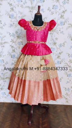 Half Saree Function, Kids Dress Collection, India For Kids, Kids Blouse Designs, Half Saree Designs, Baby Frocks Designs, Frock Design, Kids Boutique, Traditional Outfits