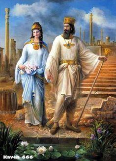 کورش کبی Darious the great ( Daryoosh Shah ) and Queen Atosaر