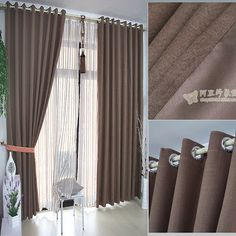 About off the ground White Linen Curtains, Modern Curtains, Drapes Curtains, Decor Home Living Room, Living Room Colors, Home Decor, Apartment Curtains, Layered Curtains, Curtain Designs