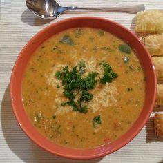 Paprika - Grünkernsuppe
