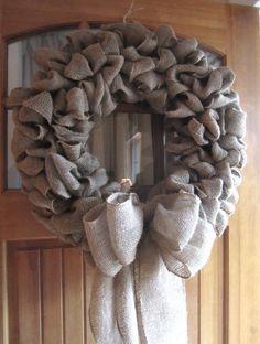 oversized burlap wreath