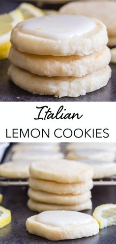Italian Lemon Cookies Perfect melt in your mouth Lemon Cookies. If you love anything lemon then you are going to love these cookies. Light and easy to make, with a tasty lemon glaze, they are sure to satisfy any lemon lover! Perfect for spring and summer! Cookie Desserts, Easy Desserts, Cookie Recipes, Delicious Desserts, Dessert Recipes, Yummy Food, Cookie Favors, Summer Cookies, Baby Cookies