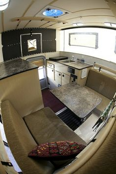 Interior of the Four Wheel Camper (aka project JATAC), via Flickr