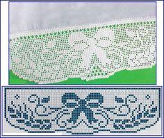 Häkelborte Schleife Filet häkeln crochet Bordiury