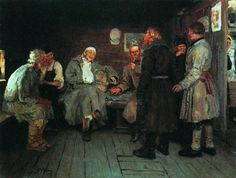 Returning from the war (1877) - Ilya Repin