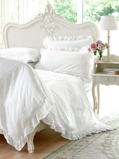 luxurious white bed