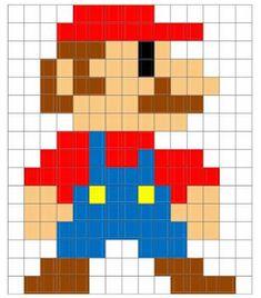 Mario to code Hama Beads Mario, Diy Perler Beads, Perler Bead Art, Graph Paper Drawings, Graph Paper Art, Pixel Art Grand, Cross Stitch Patterns, Quilt Patterns, Image Pixel Art